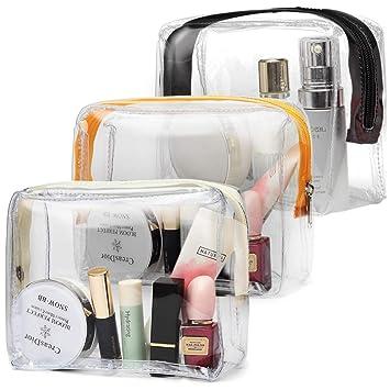 Amazon.com: Bolsa de maquillaje transparente Cambond ...