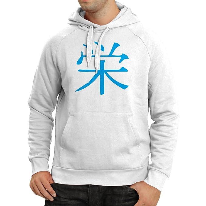 lepni.me Sudadera con Capucha Insignia de Prosperidad - Símbolo de Kanji Chino/Japonés