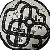 NATIVEDEN STORAGE Kids Roadmap Play Mat and Toy Organizer Storage Diameter 53 inches,(Canvas)