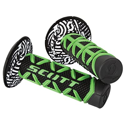 Scott Sports 219626-1089 Green/Black Diamond Motorcycle Grips: Automotive