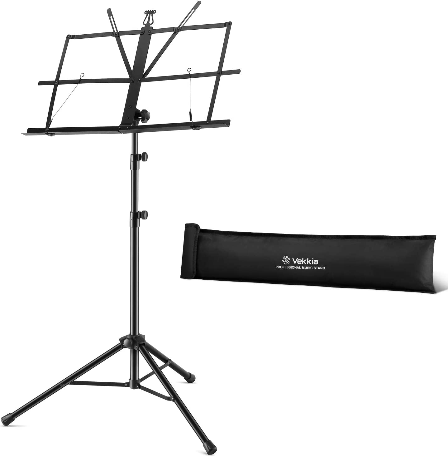 Black Aokeo Deluxe Collapsible Orchestra Music Stand