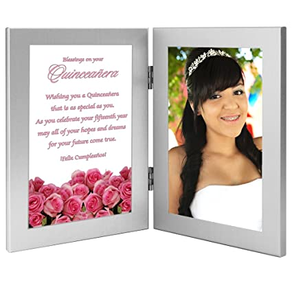 amazon com gift for a quinceañera sweet saying in a double frame