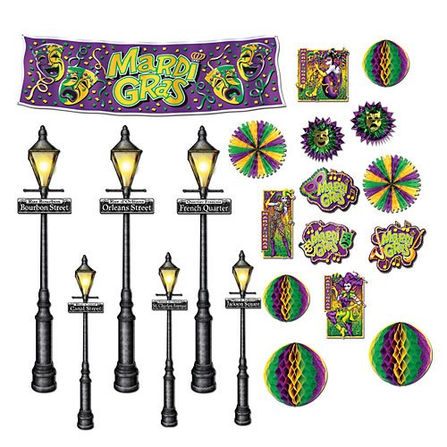 Mardi Gras Decor & Street Light Props Assortment 8in.- (Mardi Gras Decorations New Orleans)