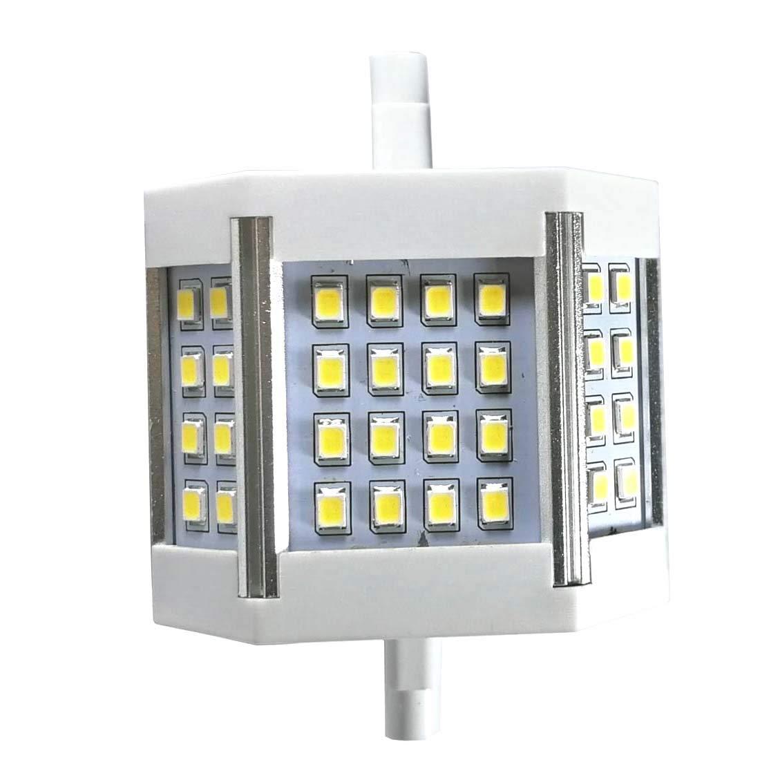 "qlee R7s Led 78mm Dimmable 3"" J78 120v 100w Tungsten Halogen Lamp Replacement Bulb Double Ended J Type Spotlight Desktop Floodlight Floor Standing Reading Work Light Warm White"