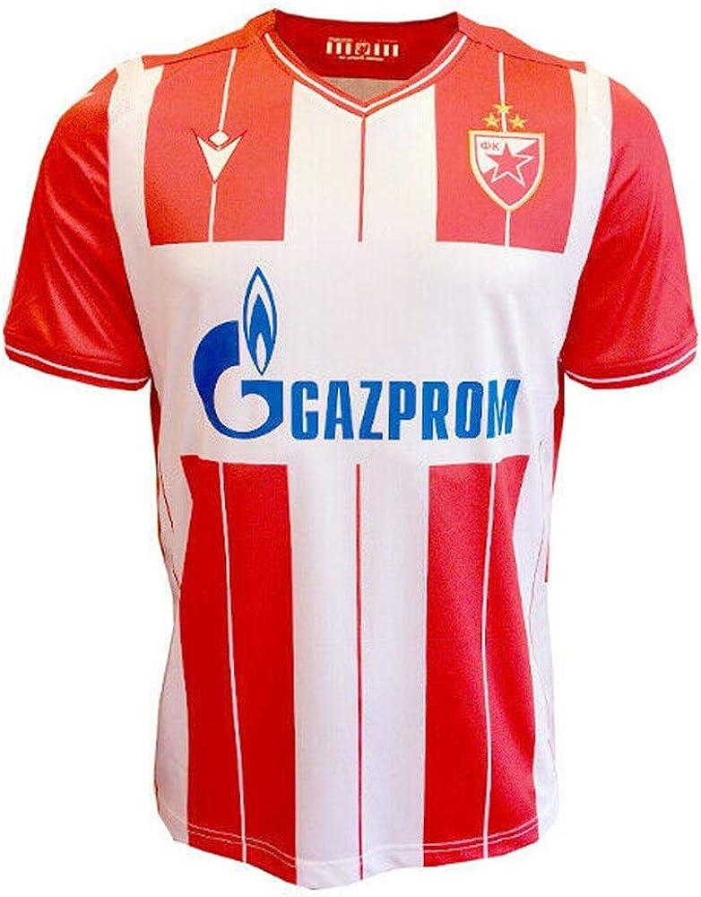 Amazon Com Macron 2019 2020 Red Star Belgrade Home Football Soccer T Shirt Jersey Clothing