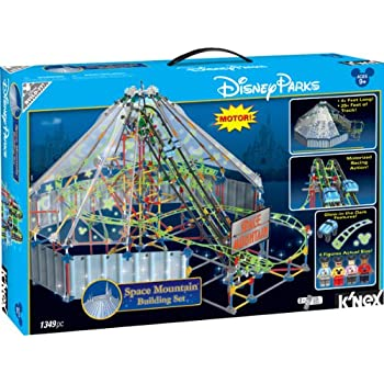 Disney Store Deluxe K-Nex Space Mountain Motorized Building Set Roller Coaster
