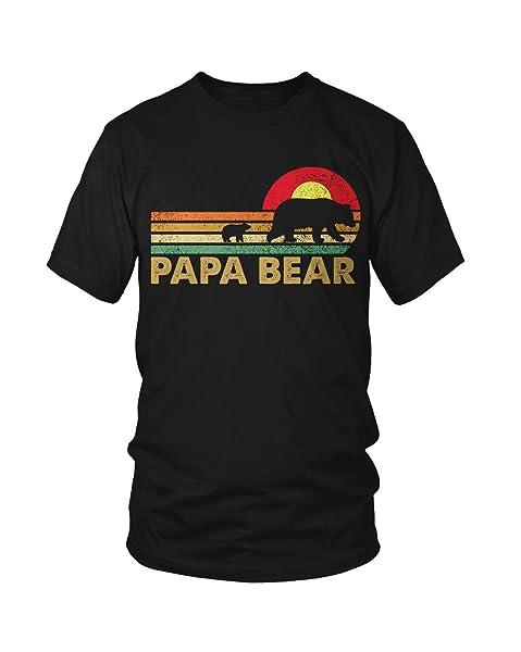 Virtu Tees Vintage Papa Bear - Daddy Wildling Father's Day Dad Gift T-shirt