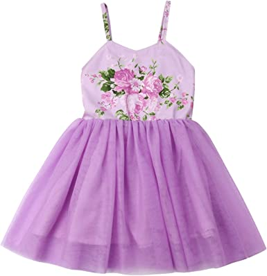 Flower Toddler Kids Baby Girls Dress Backless Strappy Party Pageant Tutu Dress