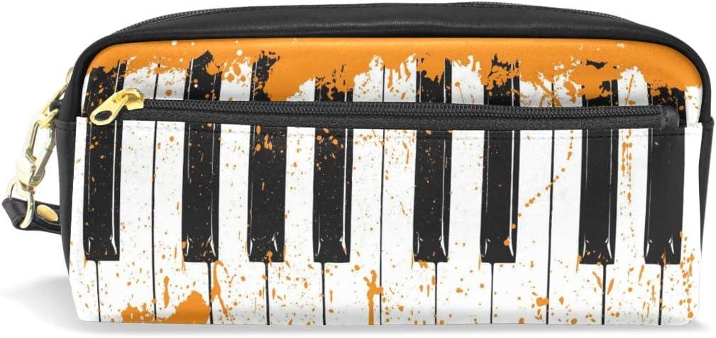 BONIPE - Estuche de piano musical con estuche para bolígrafos, estuche escolar, artículos de papelería, viajes, cosméticos, maquillaje: Amazon.es: Oficina y papelería