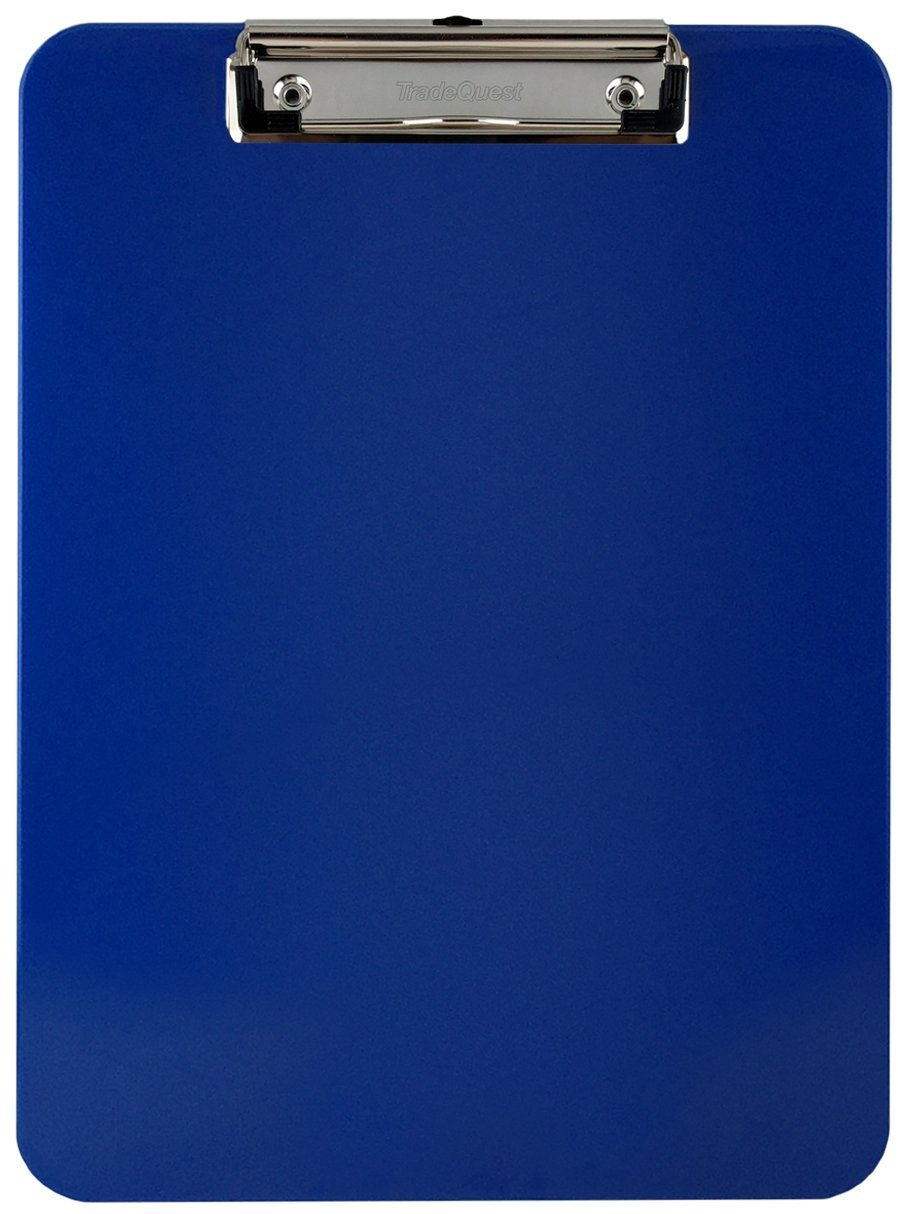 Trade Quest Plastic Clipboard Opaque Color Letter Size Low Profile Clip (Pack of 6) (Dark Blue) by Trade Quest (Image #2)