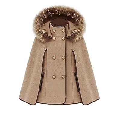 Manteau a capuche marron femme