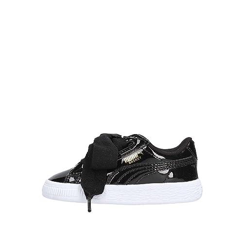 Puma Basket Heart Patent Inf, Zapatillas Unisex Niños, Negro Black 01, EU: Amazon.es: Zapatos y complementos