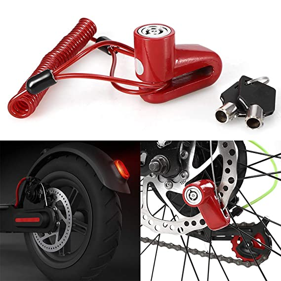 Scooter Accessories Spring Reminder Cable Security Alarm Disc Lock Anti Thief