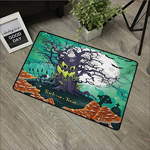 Outdoor Door mat W31 x L47 INCH Halloween,Trick