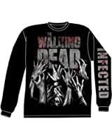The Walking Dead I'm Infected Long Sleeve Black Shirt