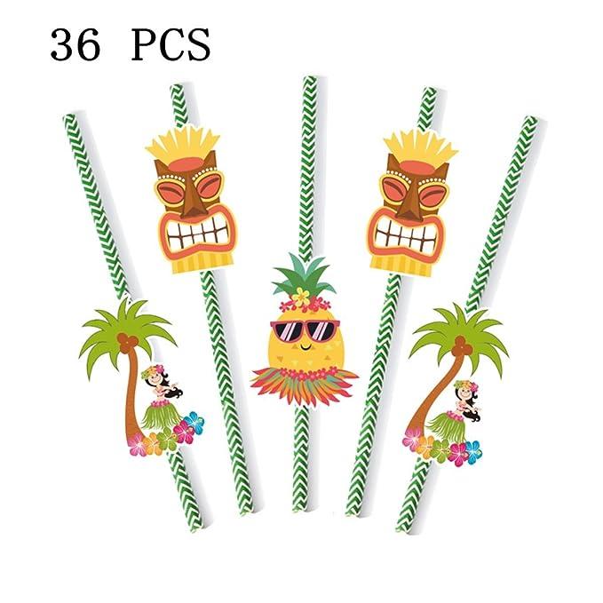 BBQ//Summer Party//Luau//Hawaiian 2 Designs TROPICAL PAPER STRAWS Range in Shop!
