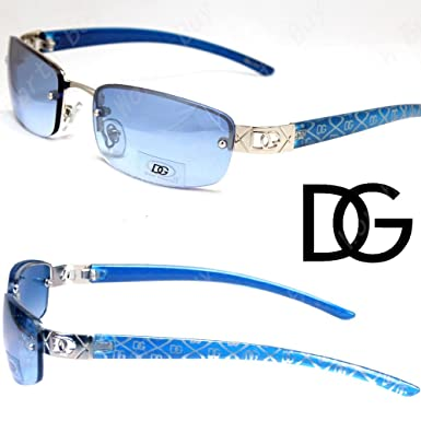 904b998209a DG Eyewear Womens Small Rectangular Oval Sunglasses Designer Fashion Shades