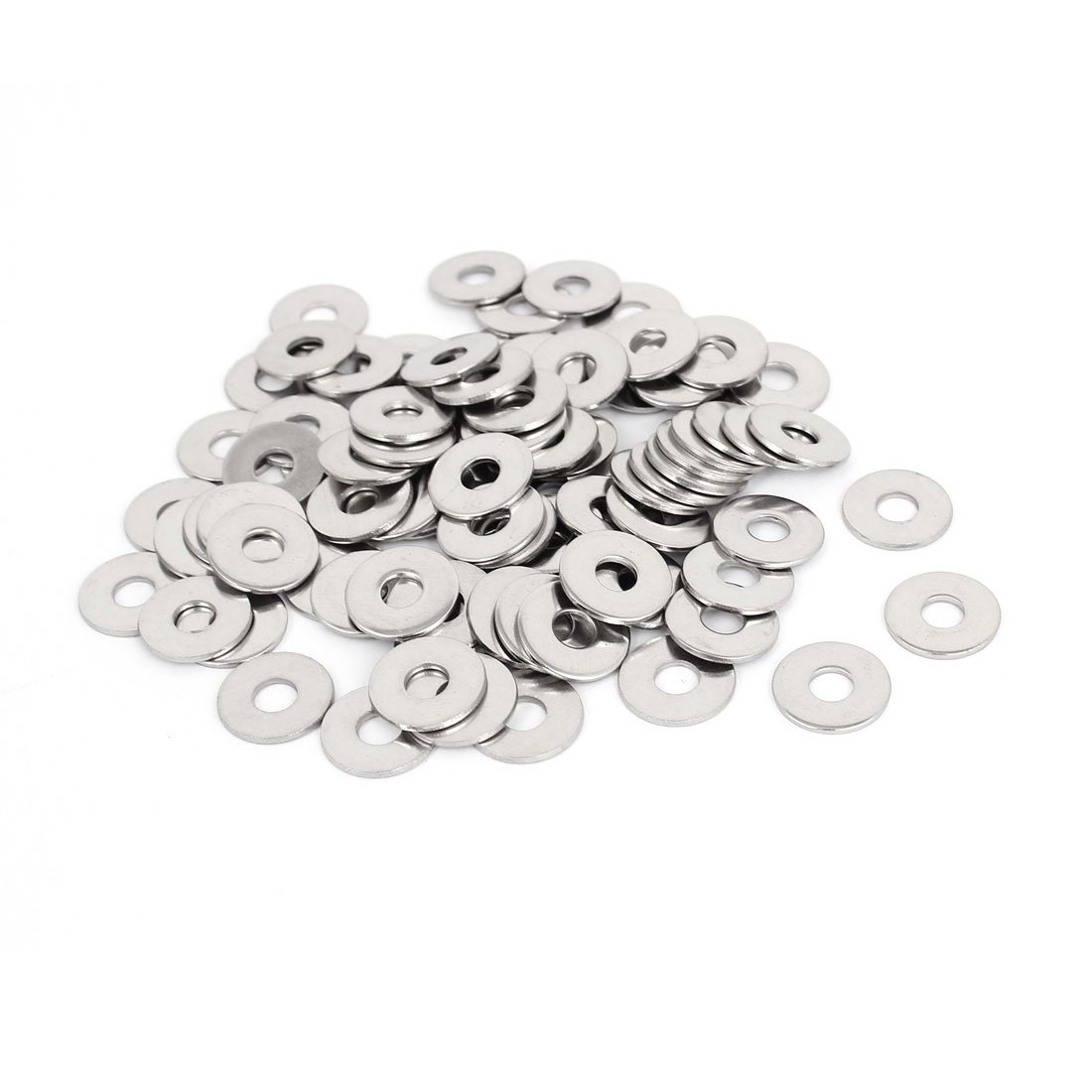 M6x18mmx1.5mm Stainless Steel Round Flat Washer for Bolt Screw 100Pcs