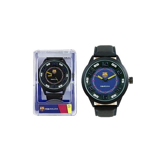 Reloj hombre FC Barcelona Fútbol Deporte Gran Diámetro: Amazon.es: Relojes