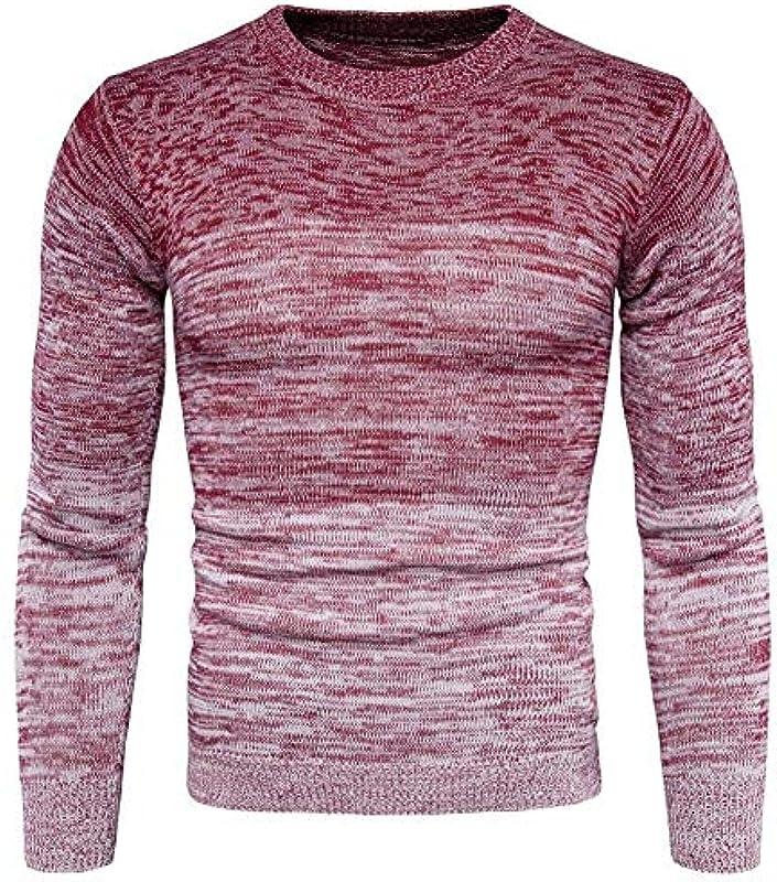 Winter jesień Mens chłopcy pogrubienie Fashion paski sweter z dzianiny stylowy długi rękaw z okrągłym wycięciem pod szyją dzianina Jumper gradient kolorÓw swobodny sweter bluza top