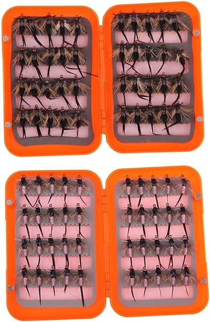 40 pcs Mouche de Pêche Mouches Kit Mouches de Pêche Mouches Mouillées