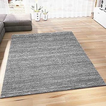 Vimoda Wohnzimmer Teppich Modern Meliert Kurzflor Farbechtheit