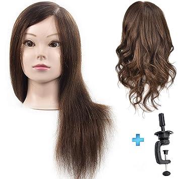Ersiman Professioneller Weiblicher Frisierkopf Mit Haar 100