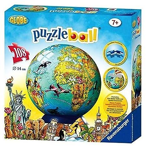 Amazon ravensburger childrens world map 108 piece childrens ravensburger childrens world map 108 piece childrens puzzleball gumiabroncs Choice Image