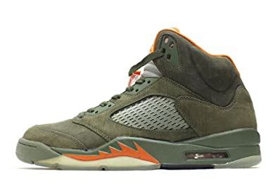fd691272af54 Image Unavailable. Image not available for. Color  Nike Air Jordan 5 Retro  LS Army Olive (314259-381) ...