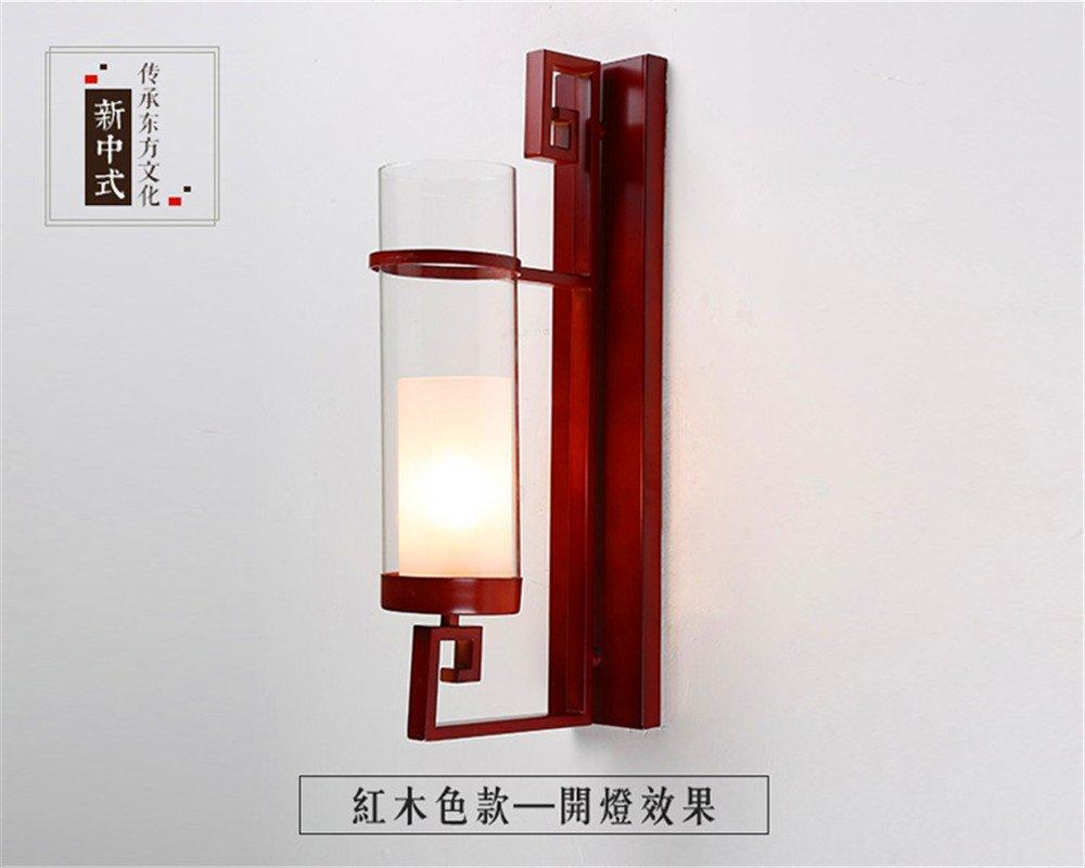 StiefelU LED Leiter des Bett im Schlafzimmer Wand lampe Wandleuchte Restaurant bar Studie Light Corridor Lichter Straßenfahrt, rot Holz Farbe 500  100 mm.