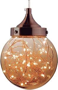Luminária Pendente Lustre Ara Led Ambar 5w Decoração Sala