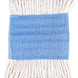 Tidy Monster Loop-End Cotton String Mop Head, Heavy Duty String Mop Refills, 6 Inch Headband, Mop Head Replacement for Home, Industrial and Commercial