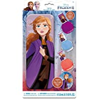 Disney Frozen II Anna Nail Polish Set with Tin Pencil Case Toy for Girls , 3 Years & Above