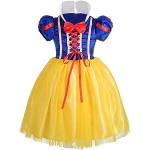 e588f454fe1 Dressy Daisy Girls  Princess Snow White Costume Fancy Dresses Up Halloween  Party