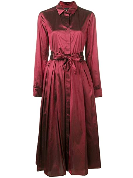 41941acb43e Max Mara Women s 82210797000021 Red Silk Dress  Amazon.co.uk  Clothing