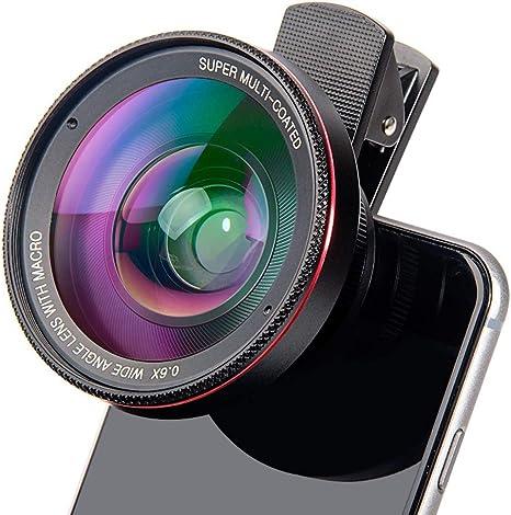 DZSF 4K HD Súper 15X Lente Macro para Smartphone Anti-distorsión 0.6X Lente Gran Angular óptico de la cámara Kit de Cristal 7 Android / 6 / 6S Plus / 5 / Se: