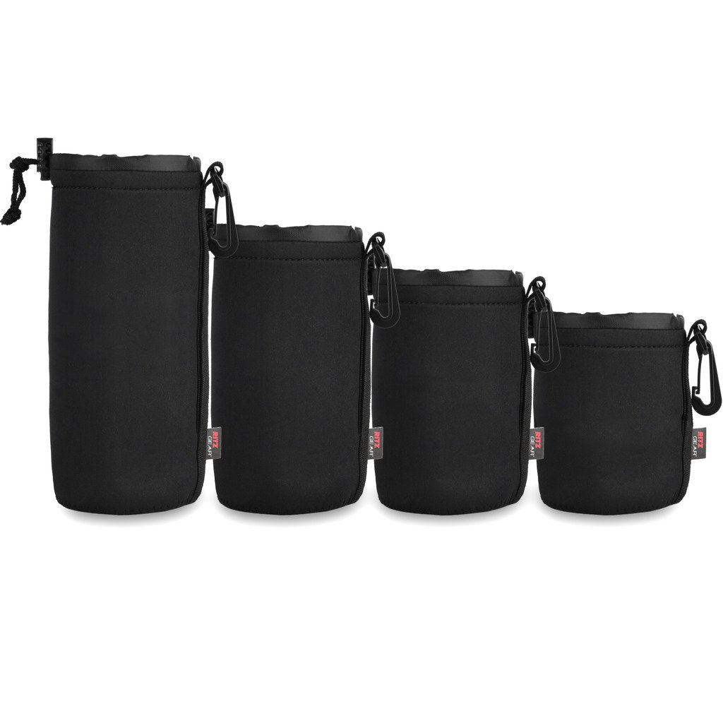 Ritz Gear&Trade; Neoprene Protective Pouch Kit for DSLR Camera Lenses (Small, Medium, Large, X-Large)