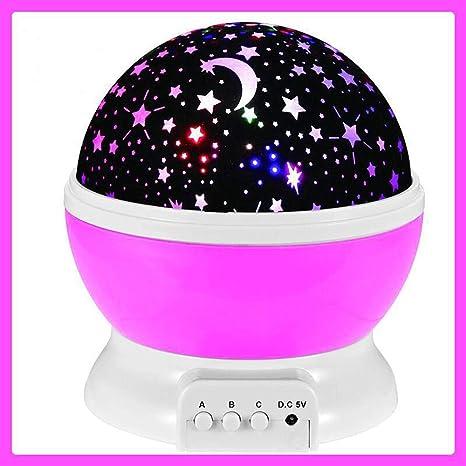 HJKLC Lampara proyector Estrellas 360 Grados rotación con ...