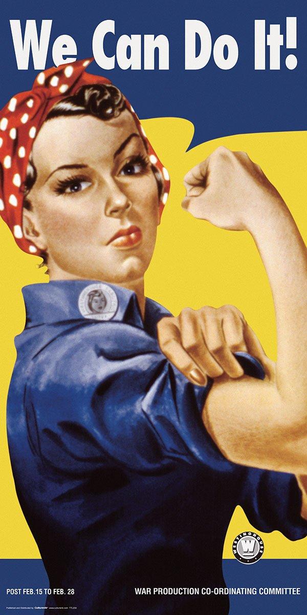 Culturenik TTL204 Rosie the Riveter We Can Do It Vintage Advertising Art Poster Print unframed 12 x 24