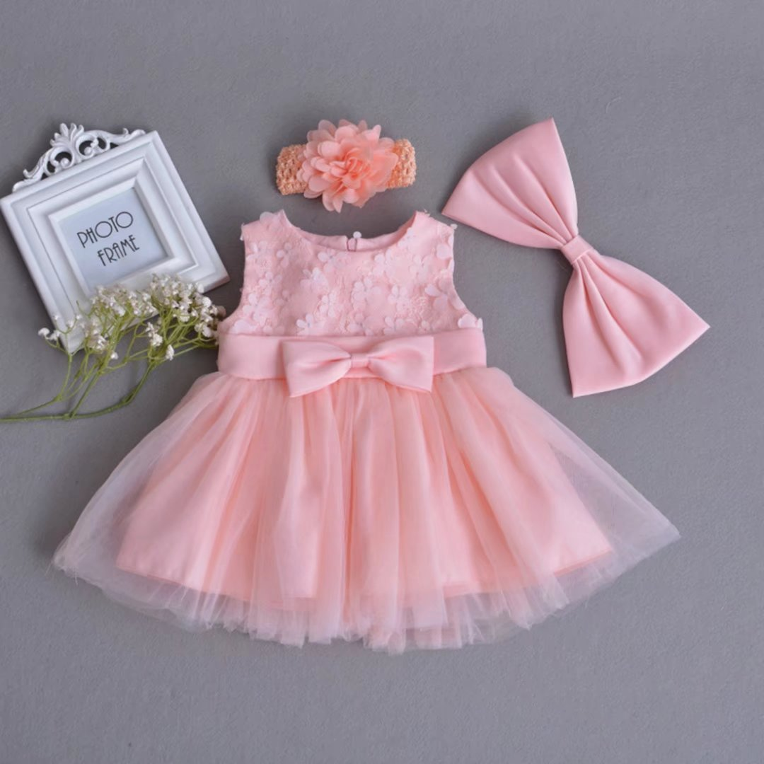 271e319d2 Amazon.com: ADHS Infant Kids Baby Girl Flower Formal Event Floral Dresses  with Headband: Clothing