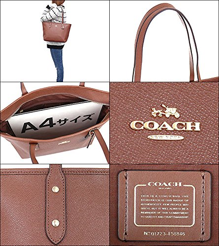 Coach Bag (Tote Bag) F58846 Leather Tote Bag Women's [Outlet Item] [Parallel Import Goods] (Saddle 2) by Coach (Image #2)