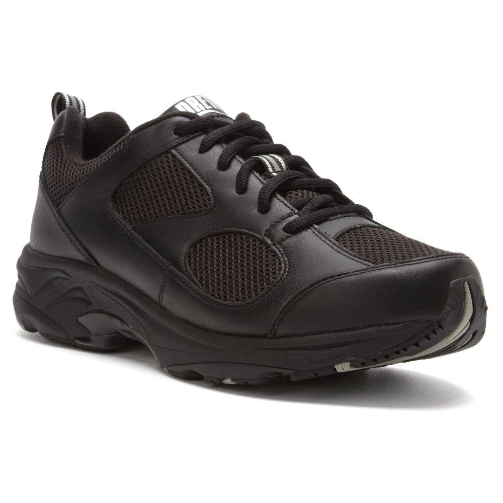 Drew Shoe Men's Lightning II Sneakers B00AB3G09Q 10.5 W US|Black Leather / Black Mesh