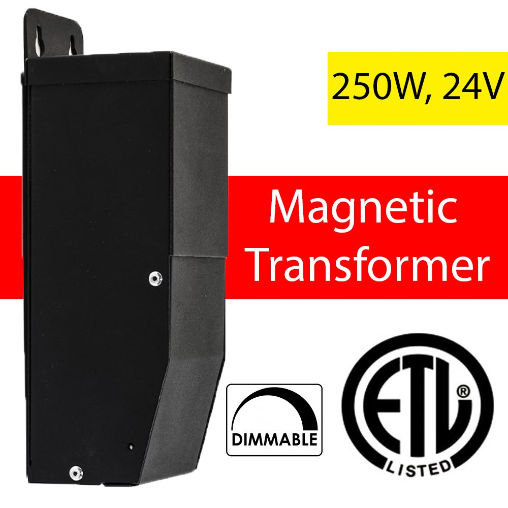 24 Volt Magnitude Magnetic Dimmable LED Driver Transformer Outdoor Power Supply 250 Watt