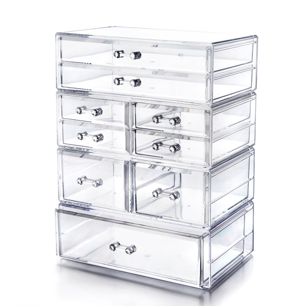 Choice Fun Extra Large Acrylic Chest Organizer 6 Tiers with 9 Deep Drawers 11.8''L7.5''W15.7''H Choice Fun by Choice Fun