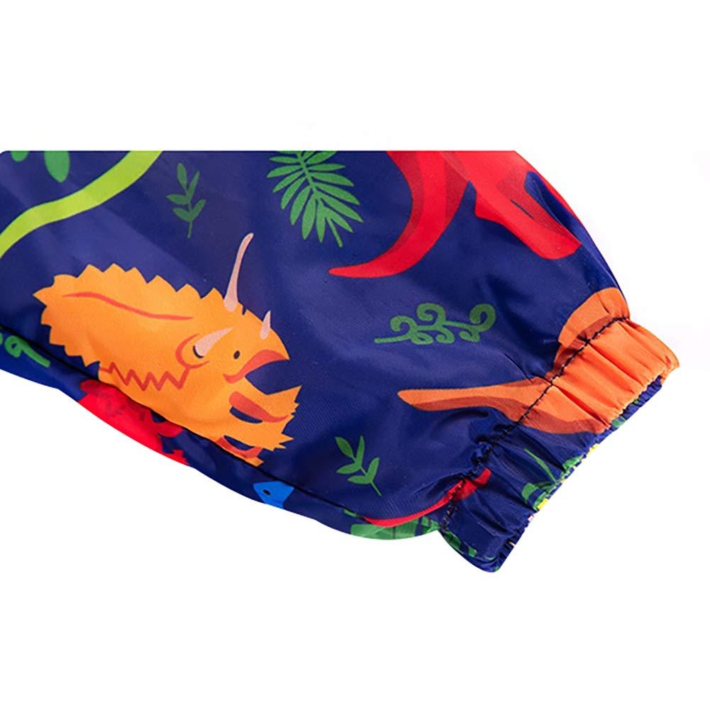 Achiyi Baby Boys Spring Fall Long Sleeve Hooded Dinosaur Jacket Coat Waterproof Lightweight Rainwear Outfit for Boys 1-6T