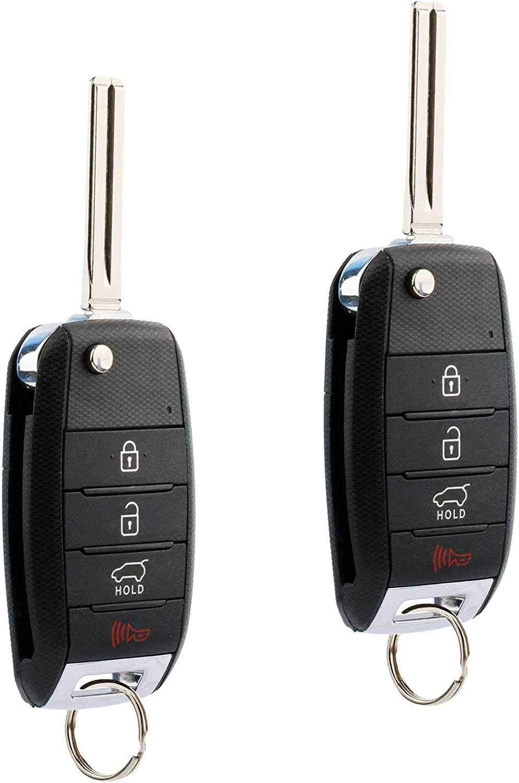 Set of 2 Flip Key fits 2014 2015 Kia Sorento Keyless Entry Remote Fob TQ8-RKE-3F05, 95430-1U500
