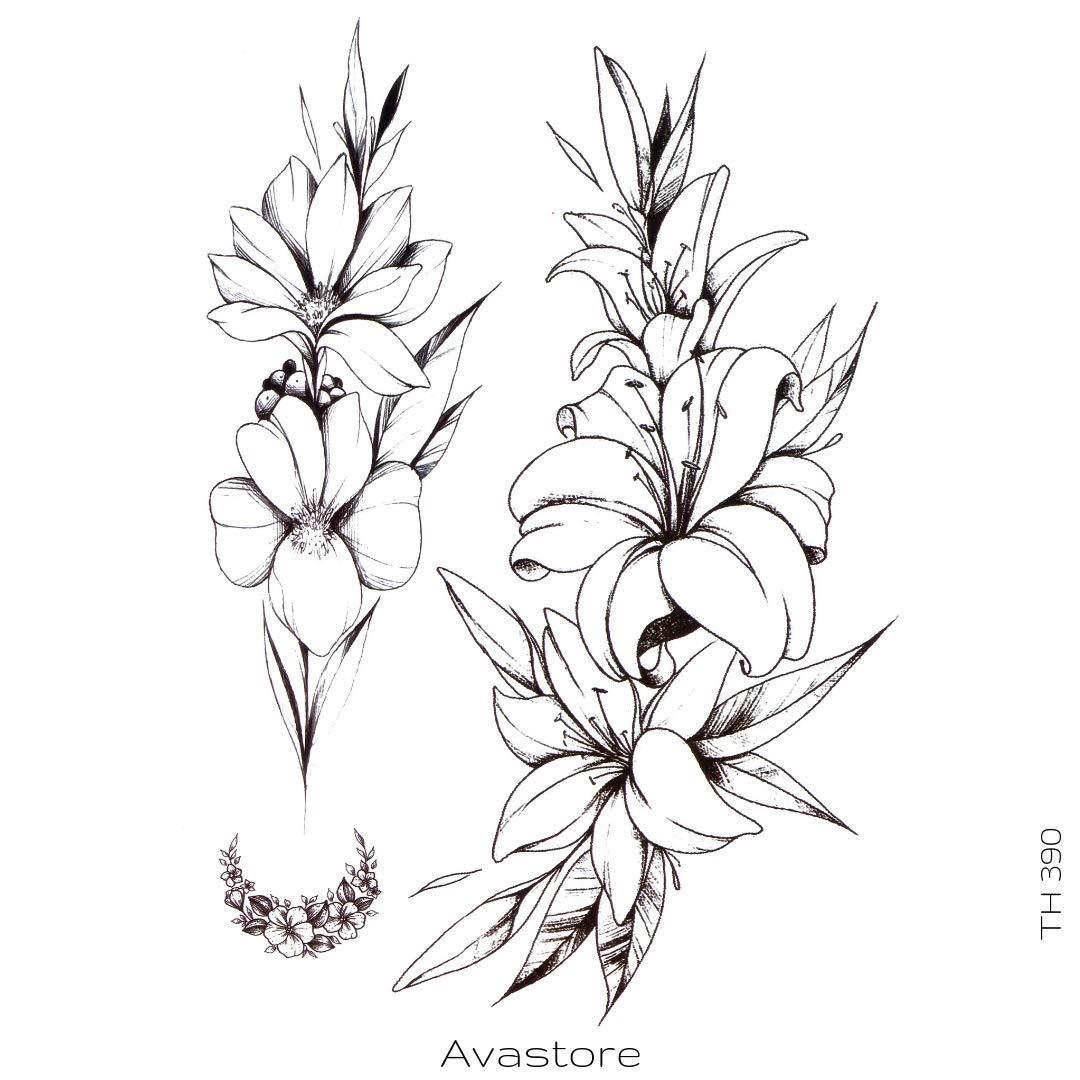 Vastore - Tatuaje temporal, diseño de flor de Lys: Amazon.es: Belleza