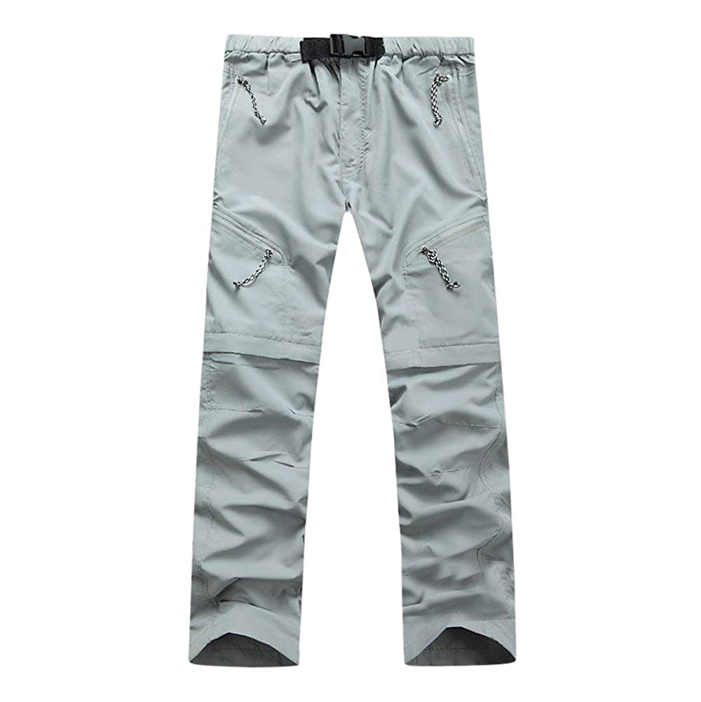 Geetobby Men Pants Outdoor Quick-drying Detachable Waterproof Pockets Trousers Grace Toby