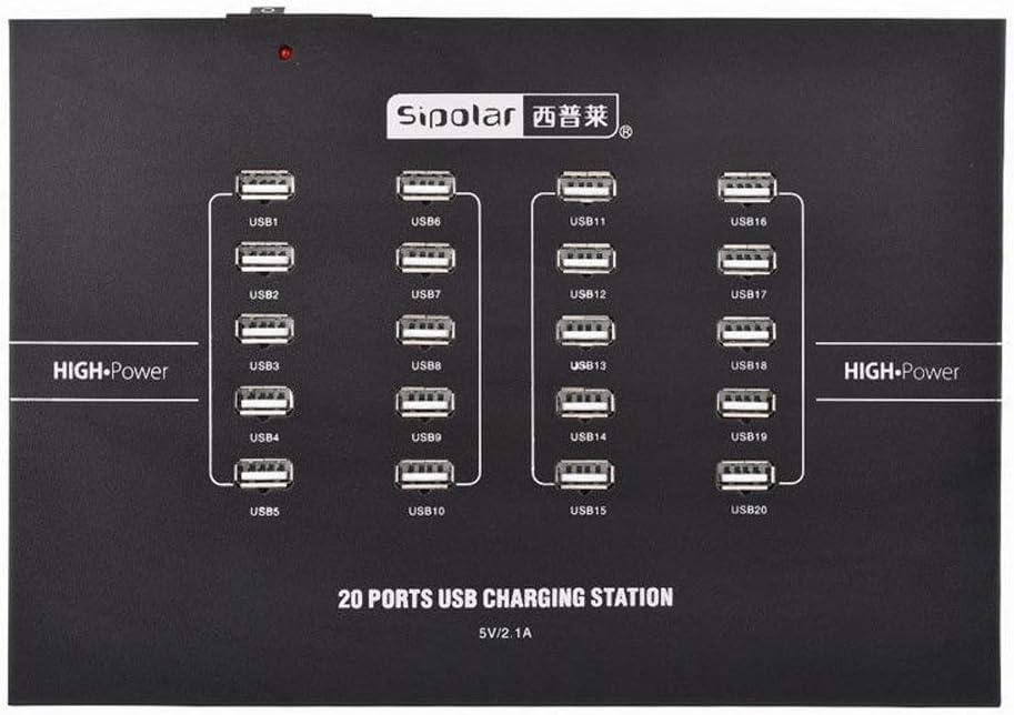 Sipolar C-220 Industrial Grade 5v 2.1a 20 Ports Charger Desktop Charging Station - -