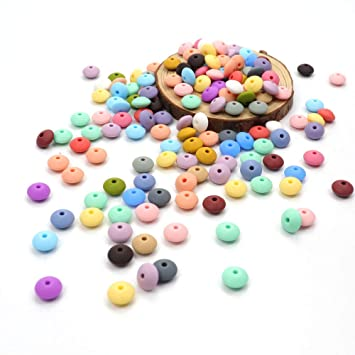 Silicone 12mm Lentil Beads BPA Free DIY Craft Supply